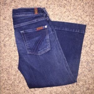 7 For All Mankind Jeans - 7 For All Mankind Crop Dojo Denim